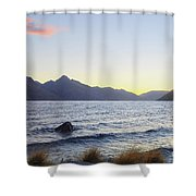 Lake Wakatipu At Sunset Shower Curtain