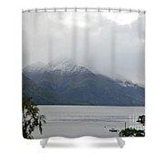 Lake Wanaka On A Rainy Spring Day Shower Curtain
