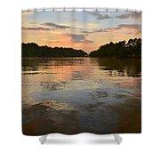 Lake Wedowee Alabama At Sunset Shower Curtain