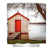 Lake Wendourie Boathouse Shower Curtain