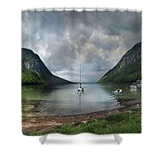 Lake Willoughby  Panorama One Shower Curtain