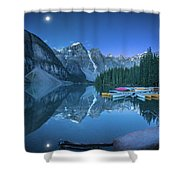 Lake With Moon At Four Am Shower Curtain