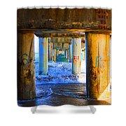 Lake Worth, Florida Pier Shower Curtain