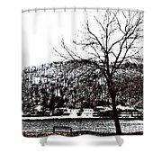 lake Wynona Shower Curtain
