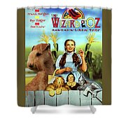 Lakeland Terrier Art Canvas Print - The Wizard Of Oz Movie Poster Shower Curtain