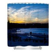 Lakeshore Nights Shower Curtain