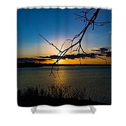 Lakeshore Sunset Shower Curtain