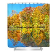 Lakeside Autumn Reflections Nj Shower Curtain