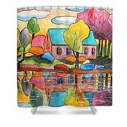 Lakeside Dream House Shower Curtain