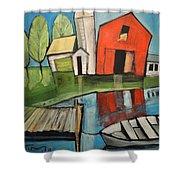 Lakeside Farm Shower Curtain