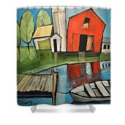 Lakeside Farm Shower Curtain