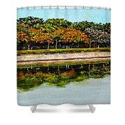 Lakeside Joggers Path Shower Curtain