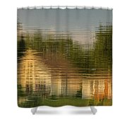 Lakeside Living On Wiggins Lake - Abstract Shower Curtain