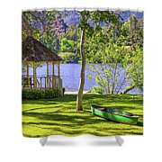 Lakeside Relaxation Shower Curtain