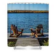 Lakeside Seating For Two Shower Curtain