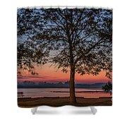Lakeside Sunrise Shower Curtain