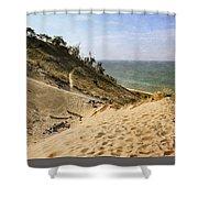 Laketown Dune Panorama Shower Curtain