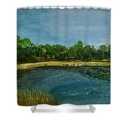 Lakeview Tallahassee Shower Curtain