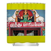 Lakshmi And Her Elephants, Valparai Shower Curtain