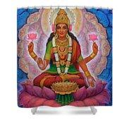 Lakshmi Blessing Shower Curtain