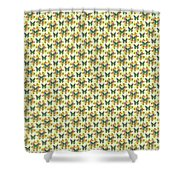 Lalabutterfly Lemons Reduced Scale Shower Curtain