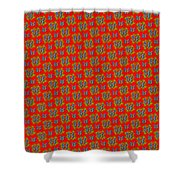Lalabutterfly Red Reduced Scale Shower Curtain