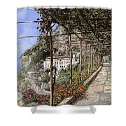 L'albergo Dei Cappuccini-costiera Amalfitana Shower Curtain by Guido Borelli