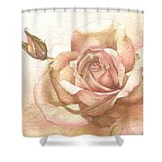 Lalique Rose Shower Curtain