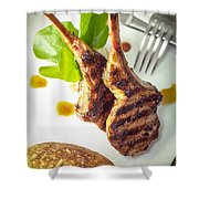 Lamb Chop 4 Shower Curtain