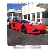 Lamborghini Aventador Spyder Shower Curtain