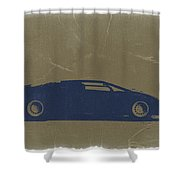 Lamborghini Countach Shower Curtain