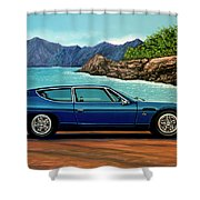 Lamborghini Espada 1968 Painting Shower Curtain