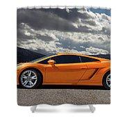 Lamborghini Exotic Car Shower Curtain