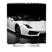 Lamborghini Gallardo Lp560-4 Spyder Shower Curtain