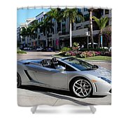 Lamborghini Gallardo Lp560 Shower Curtain