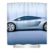 Lamborghini Gallardo 'profile Of Terror' Shower Curtain