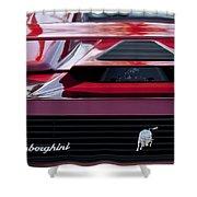 Lamborghini Rear View Shower Curtain by Jill Reger