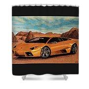 Lamborghini Reventon 2007 Painting Shower Curtain
