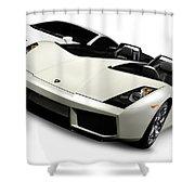 Lamborghini Super Cars Shower Curtain