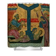 Lamentation Of The Dead Christ Shower Curtain