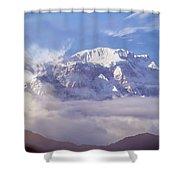 Lamjung Himal Peak Above The Clouds Shower Curtain
