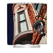 Lamp And Building Details  Shower Curtain