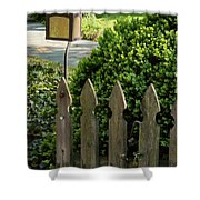 Lamp And Gate Shower Curtain