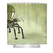 Lampbot Shower Curtain