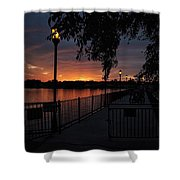 Lamplight And Daybreak  Shower Curtain