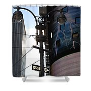 Lampost And Lightning Shower Curtain
