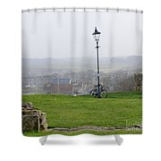 Lamppost And Bike. Shower Curtain