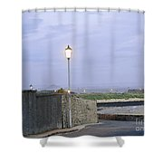 Lamppost. Night Is Coming. Shower Curtain