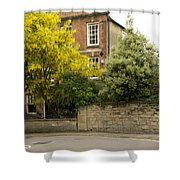 Lamppost On A Street Bend. Shower Curtain