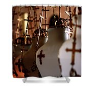 Lamps Inside The Church Of The Holy Sepulchre, Jerusalem Shower Curtain